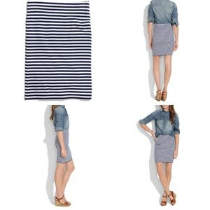 Madewell Hi Line Striped Skirt